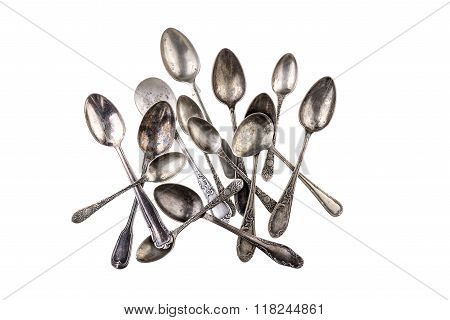 Collection of antique teaspoons