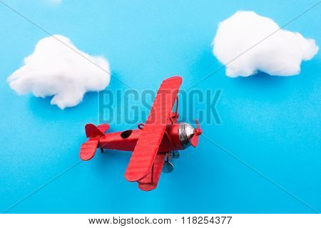 Toy Airplane In Sky