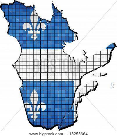 Quebec Map With Flag Inside.eps