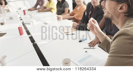 Meeting Discussion Talking Sharing Ideas Concept