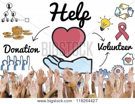 Help Welfare Hope Donations Volunteer Concept