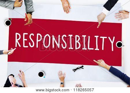 Responsibility Duty Obligation Job Trustworthy Concept poster
