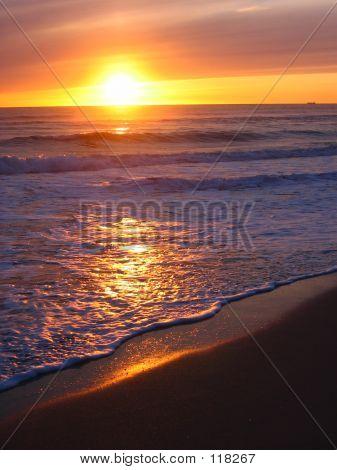 Warm Yellow Sunset