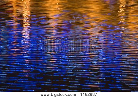 Blue And Golden Waves
