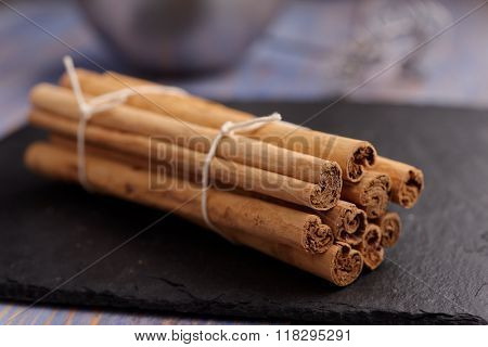 Ceylon Cinnamon sticks in a sheaf