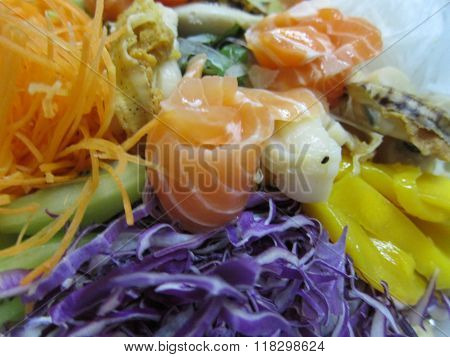 Raw fish salad dish in Chinese New Year