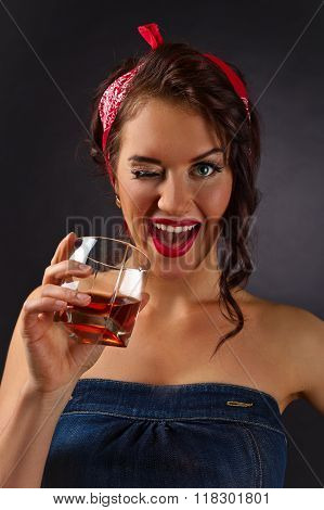 Woman With Whiskey