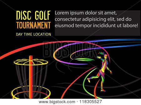 Disc golf or Frolf sports banner