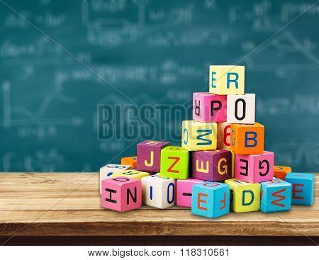Block alphabet.