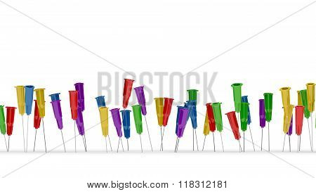 Colorful Medical Needles