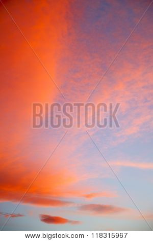 In The Colored   Clouds And Abstract Background