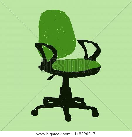 Single Green Office Chair