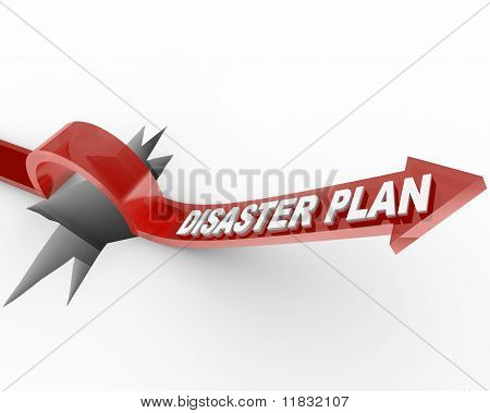 Disaster Plan - Arrow Jumping Over Hole