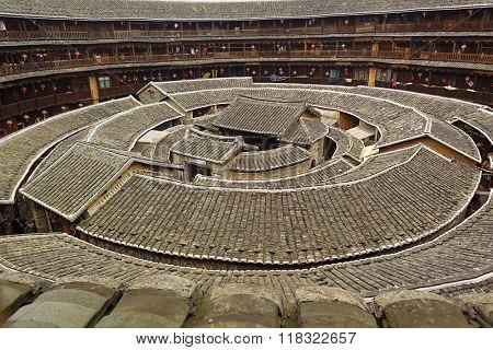 Tulou, traditional dwelling ethnic Hakka in Yongding, China