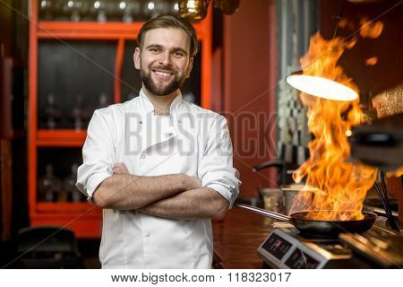 Chef cook portrait