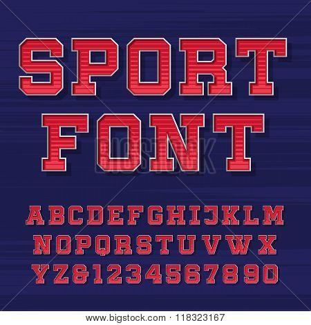 Sport alphabet vector font
