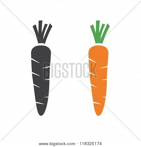 Carrot Vector Icon Cartoon Style