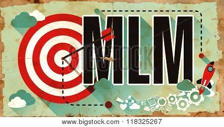 MLM on Poster in Grunge Design.