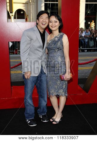 Ken Jeong and wife Tran Jeong at the Los Angeles premiere of 'The Hangover Part II' held at the Grauman's Chinese Theatre in Hollywood, USA on May 19, 2011.