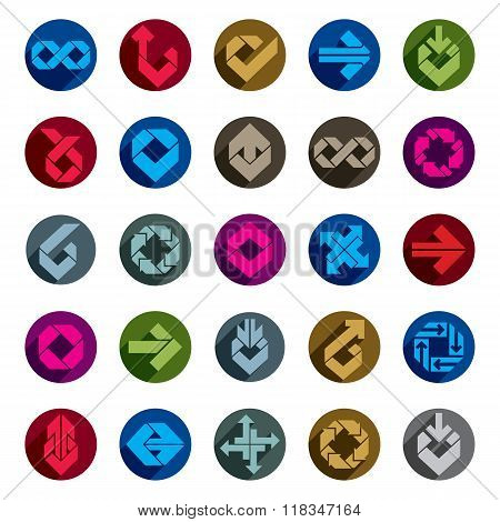 Abstract Creative Icons Vector Collection, Abstract Business Design Elements Set.
