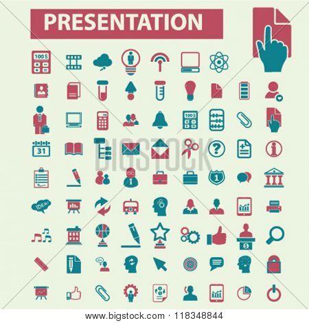 presentation icons, presentation infographics, chart icon, diagram icon, presentation concept, growth icons