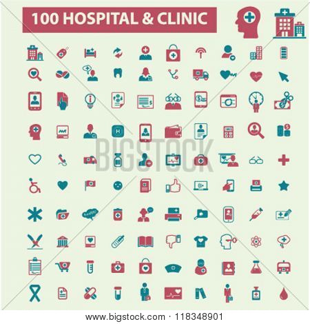 hospital icons, medicine icons, hospital signs, medicine concept, medical icons