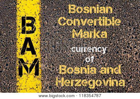 Acronym Bam - Bosnian Convertible Marka, Currency Of Bosnia And Herzegovina