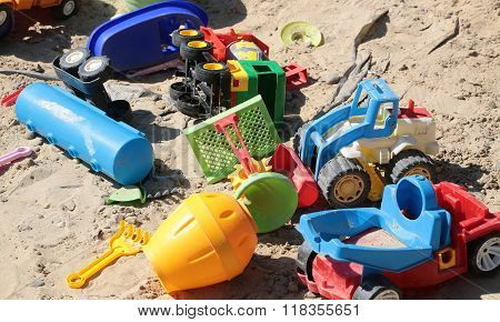 Variety Of Boyish Cars Toys