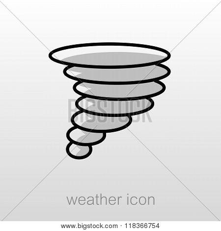 Tornado Whirlwind Icon. Meteorology. Weather