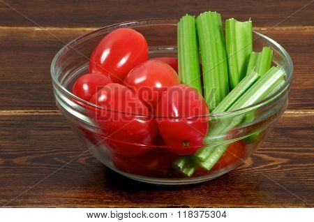 Cherry Tomatoes With Celery Side