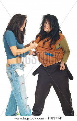 Beggars Women Fight