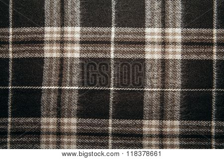 Wool Background With Scottish Cage.