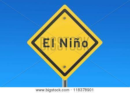 El Nino Road Sign