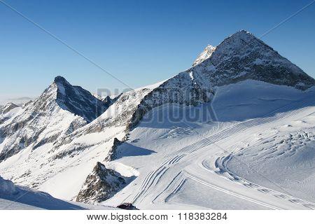 Ski arena Zillertal Hintertuxer Glacier, Austria Eu
