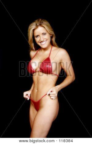 Smiling Bikini Model