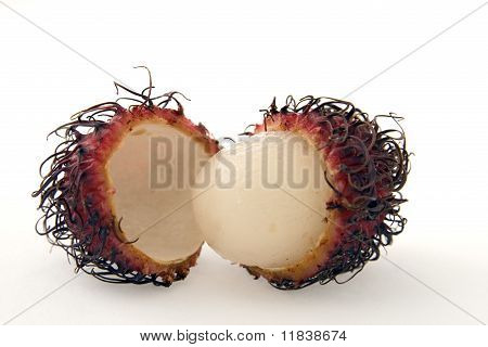 Rambutan Cut In Two