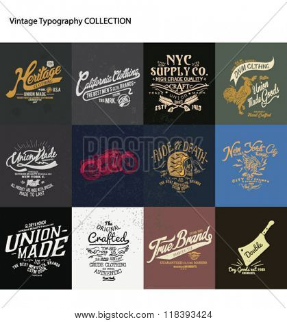vintage typography collection