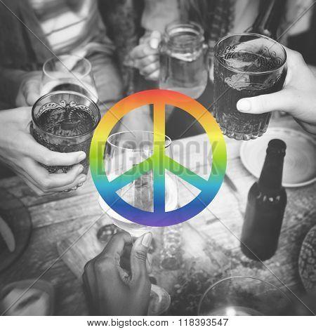 Peace Freedom Hope Pacifist Spiritual Love Concept