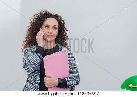 Mature Woman With Pensive Eyes High.