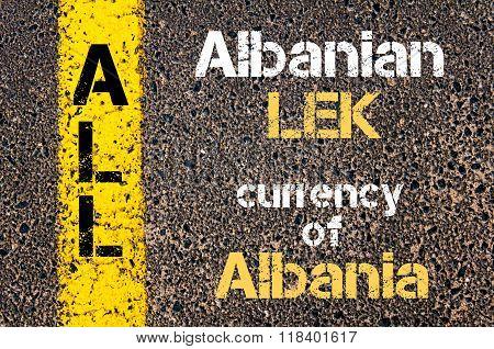 Acronym All - Albanian Lek, Currency Of Albania