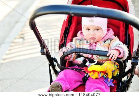 Baby Girl   In The Stroller