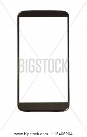 Generic Smart phone with blank screen on white background