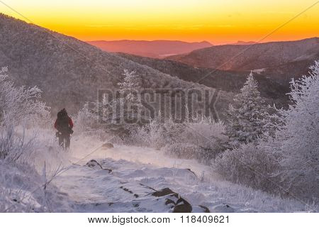 Hiking Along The Appalachian Trail In The Winter
