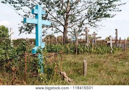 Old Cemetery In The Field