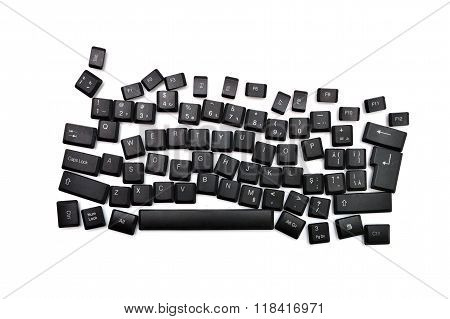 Dyslexia Black Keyboard