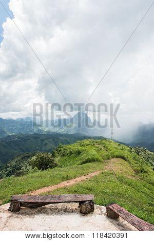 Phoukhoun Mountaintop Scene