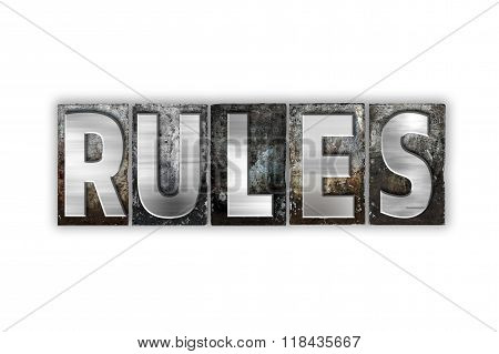Rules Concept Isolated Metal Letterpress Type