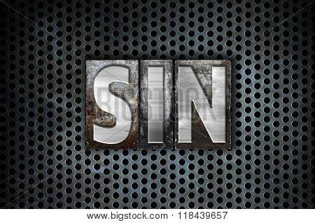 Sin Concept Metal Letterpress Type