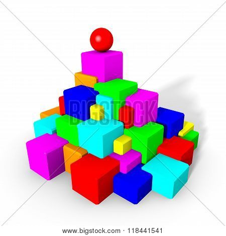 Colorful cubes and sphere
