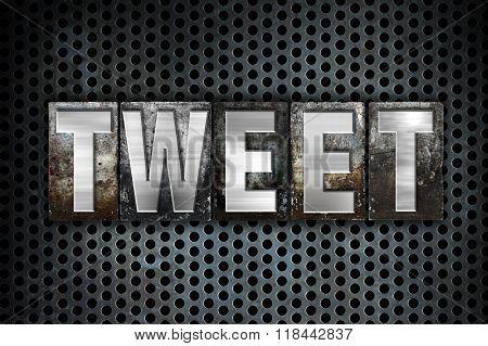 Tweet Concept Metal Letterpress Type